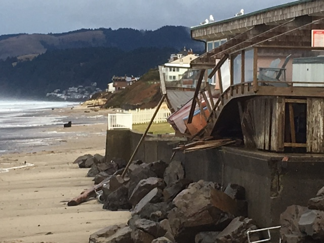 Large Waves Damage Lincoln City Complex