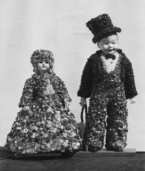 Mr and Mrs Rare Button