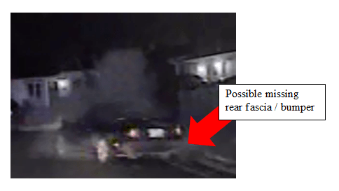 Update on suspect vehicle. Mazda