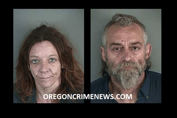 Timothy Conn and Amber Koerth Mugshots Meth theft weapon Veneta Oregon Lane County