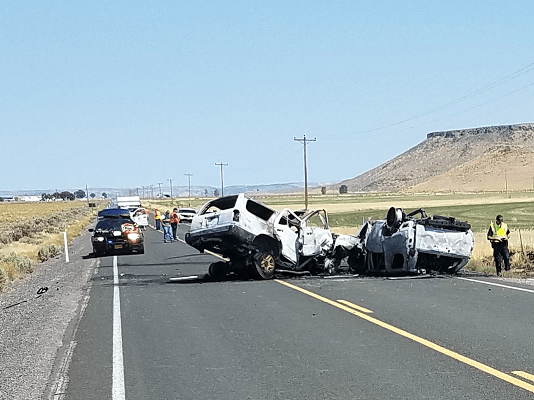 8 People Die in Two Vehicle Crash on Hwy 78 Oregon Harney County