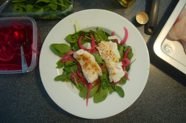 Creatively using freshly caught cod for lunch