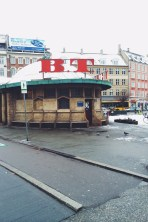 Our bus stop - iconic B.T. at Trianglen