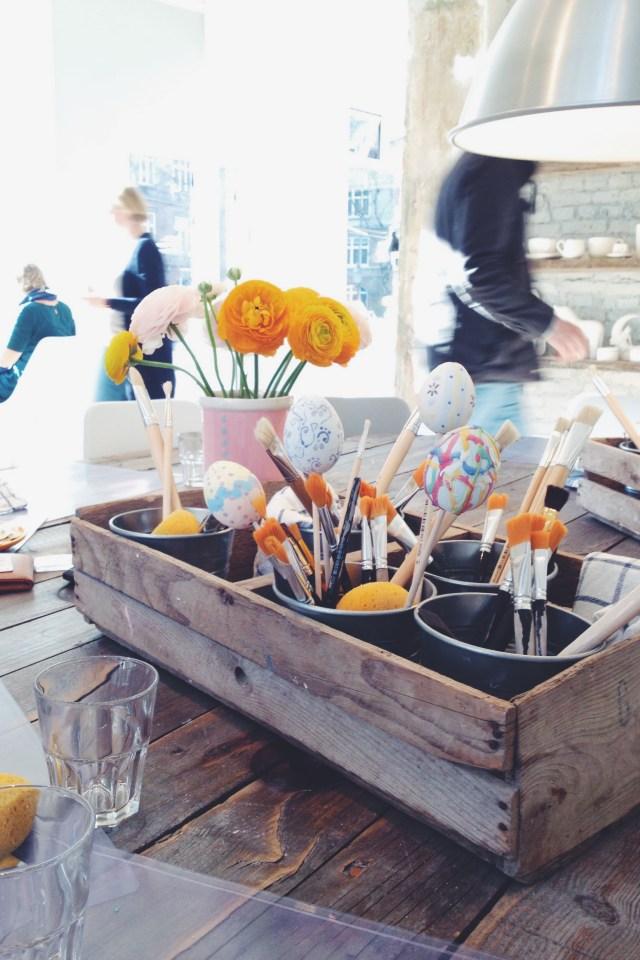 Painting Ceramic Easter eggs at Copenhagen Creative-Space