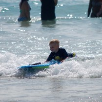 Littlest surfer - Hapuna Beach