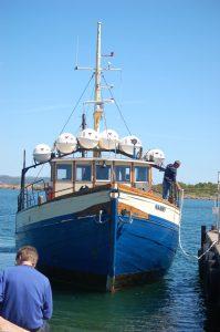 M/S Nanny to Hallands Vädëro from Torekov Harbor | Visiting Torekov, Skåne in Southern Sweden