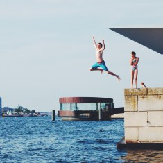 Hot enough to jump into the Harbor
