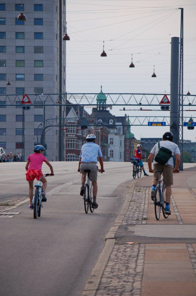 My family biking in Copenhagen