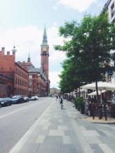 Bike lanes near the City Hall