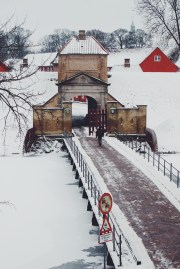 The Kastellet in Copenhagen under snow