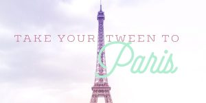 Travel tween family Paris France Eiffel Tower