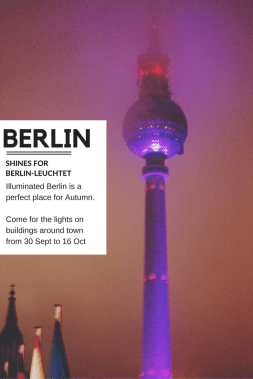 Berlin shines for Berlin-Leuchtet Between 30 September and 16 October - iconic buildings all over Berlin are illuminated nightly - come see why you should visit - via @oregongirlworld