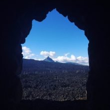 Mountain views from Dee Wright Observatory, Sisters Oregon
