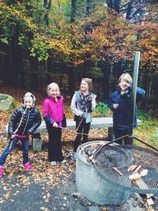 Grill Open Fire Hiking Outside Kids