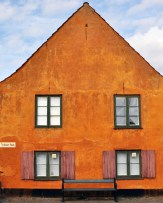 Nyboder Orange House at Nyboder Plads | What to see in Copenhagen | Oregon Girl Around the World