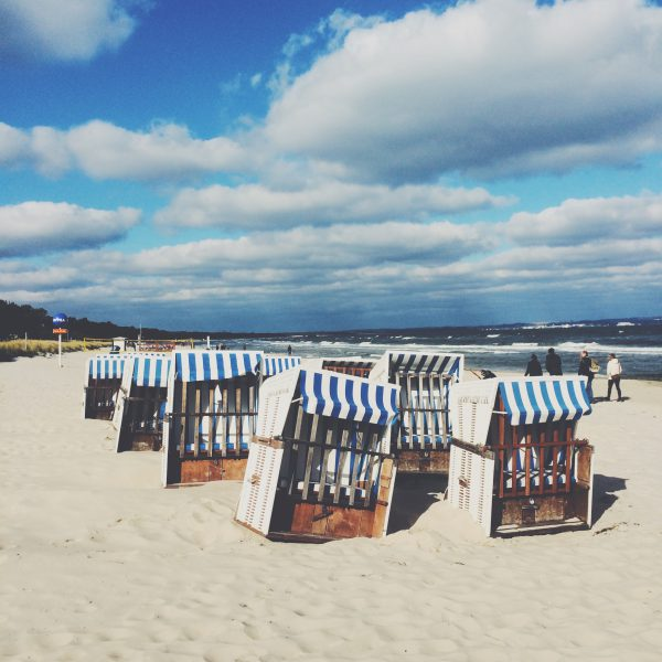 Beautiful sandy beaches at Binz