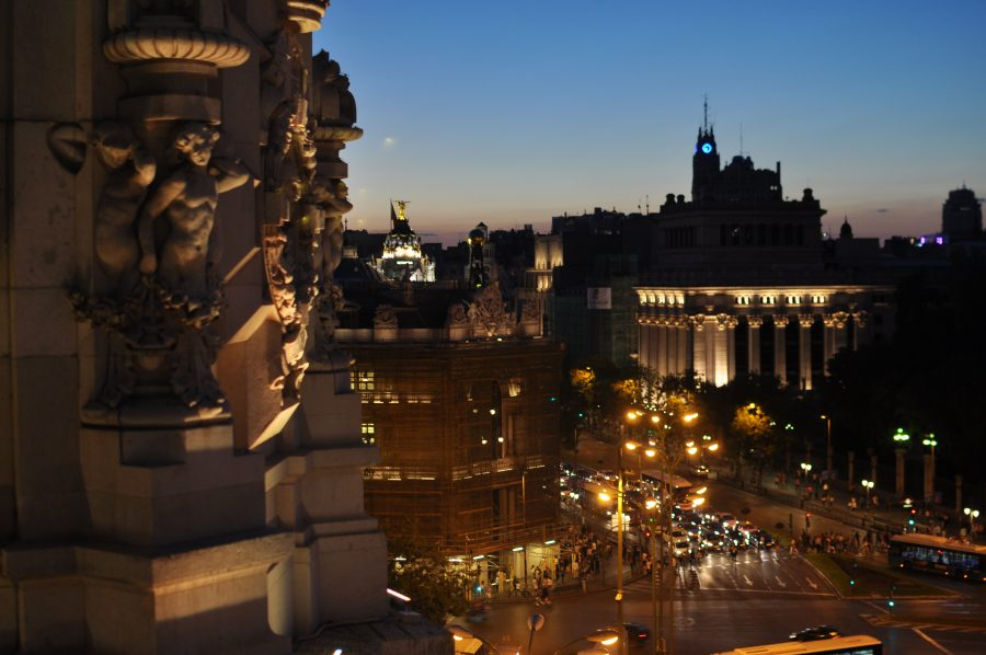Sunset From The Terraza Cibeles Madrid Spain Oregon