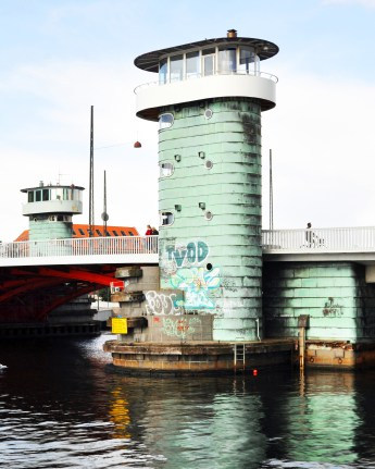 The Culture Tower or Kulturtårnet on the Knippels Bridge