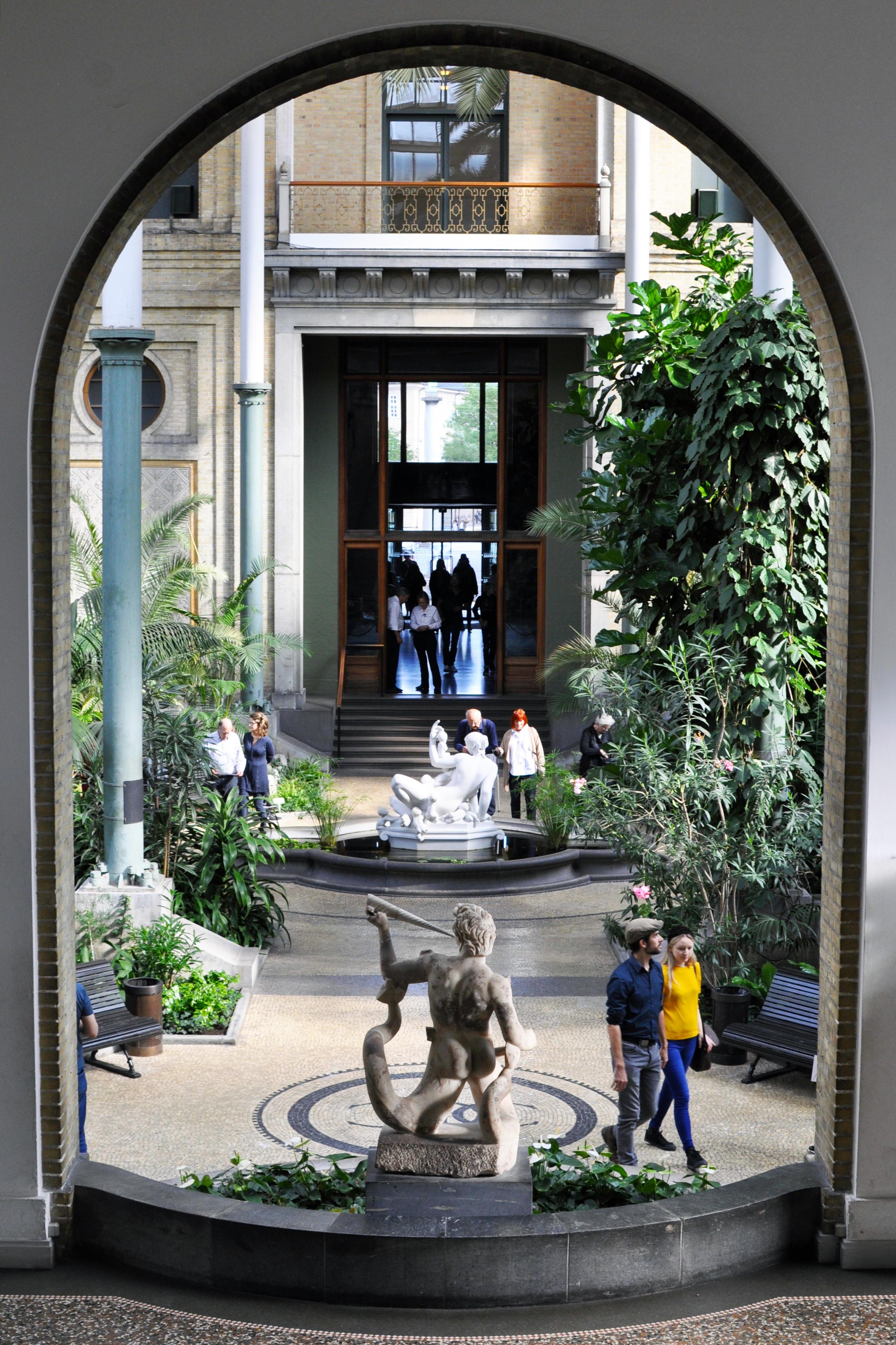 winter garden sculptures at ny carlsberg glyptoteket museum see