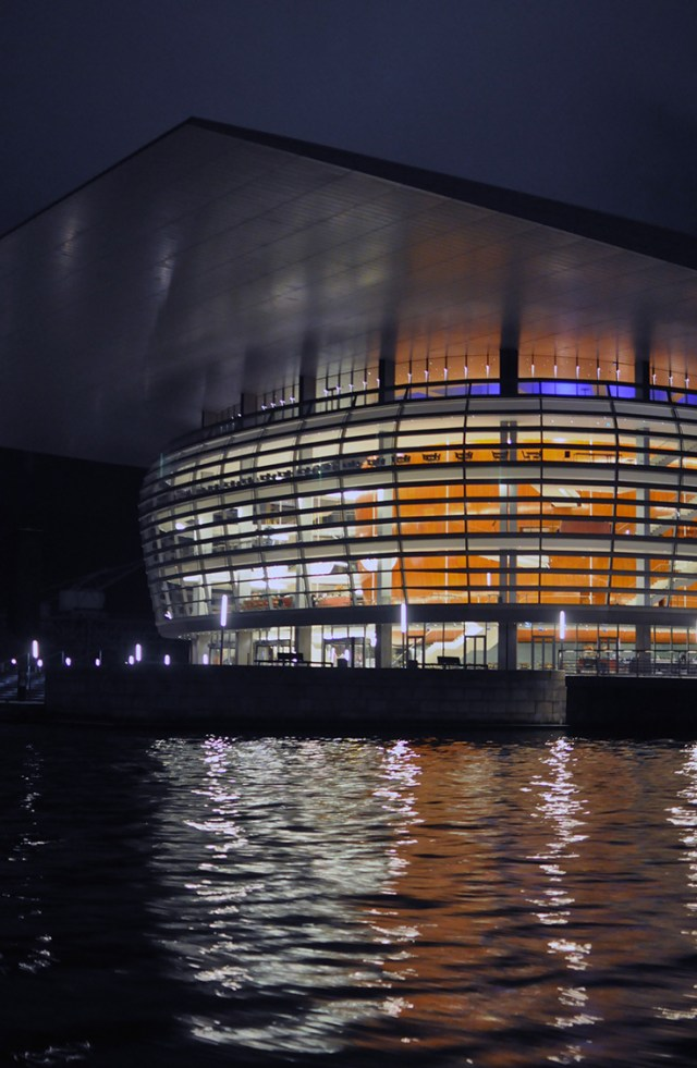 Copenhagen Opera House from Light Festival Stromma boat tour | Oregon Girl Around the World