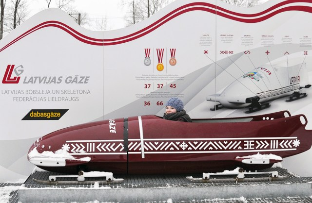 Wild Winter Fun in Sigulda Latvia | Slide in an Olympic Bobsled down the Bobsleigh, Luge and Skeleton Federation track | Oregon Girl Around the World
