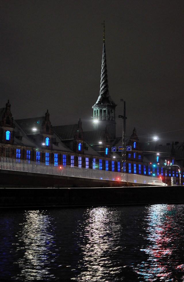 Lights on the Børsen Copenhagen Stock Exchange | Light Festival 2018 | Oregon Girl Around the World