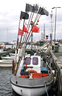 Fishing boat in Iconic Danish Village on South Fyn | Faaborg Denmark | #Funen #SydFyn | Oregon Girl Around the World