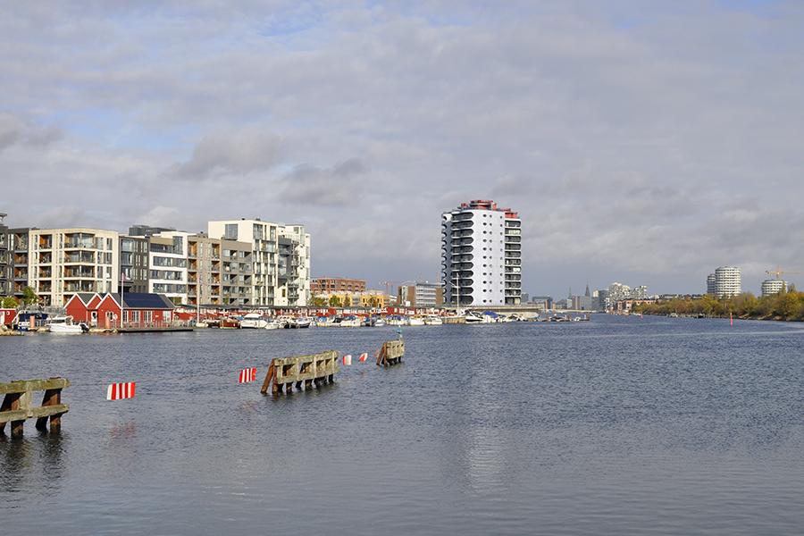 Views of Sluseholmen neighborhood from Cafe Slusen