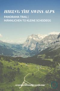 Panoramaweg trail from Männlichen to Kleine Scheidegg with view of Grindelwald Switzerland