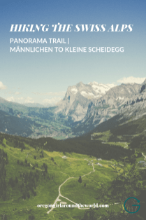 Panoramaweg trail from Männlichen to Kleine Scheidegg with view of Grindelwald Switzerland