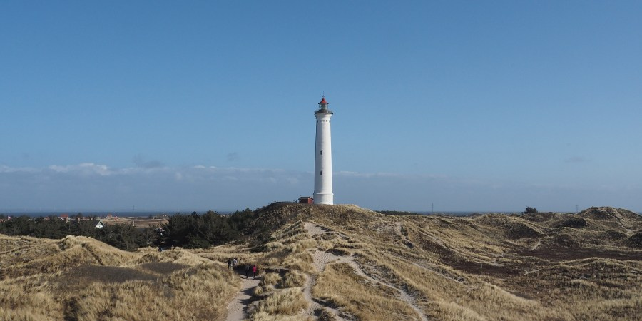 Lyngvig Fyr Lighthouse on the west coast of Denmark
