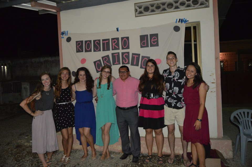 With the rest of my community and our guard (center). Taken at our end of the year goodbye party.