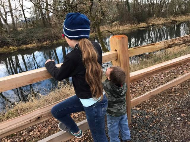 Our little ones always enjoy watching wildlife when we're hiking