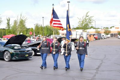 Flag Marching at the 2019 Show and Shine Car Show with Oregon Paralyzed Veterans of America (OPVA)