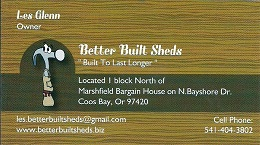 Better Built Sheds 260 wide