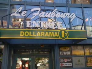 Dollarama, rue Sainte-Catherine, Montréal, 6 septembre 2009
