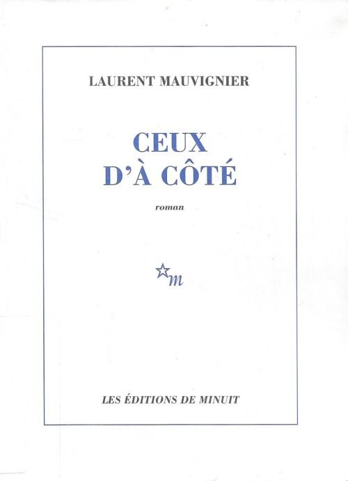 Laurent Mauvignier, Ceux d'à côté, 2002, couverture