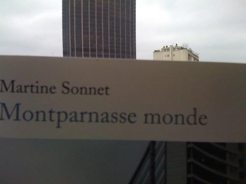 Martine Sonnet, Montparnasse monde, 2011, couverture
