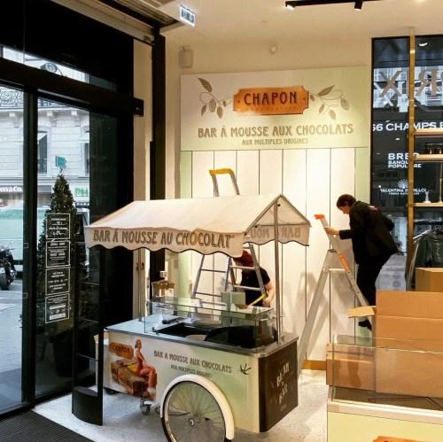 Bar à mousses au chocolat, Paris, 2019