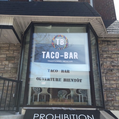 Taco bar, avenue Monkland, Montréal, 29 avril 2016