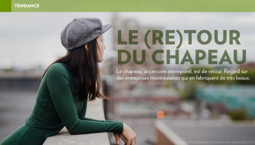 «Le (re)tour du chapeau», la Presse+, 14 octobre 2016