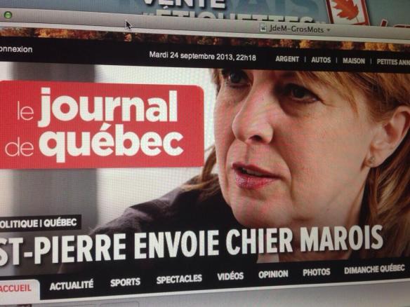 Christine Saint-Pierre citée par le Journal de Québec