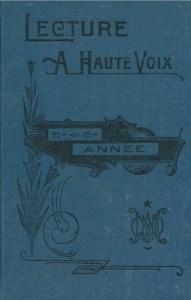Manuel scolaire québécois, couverture