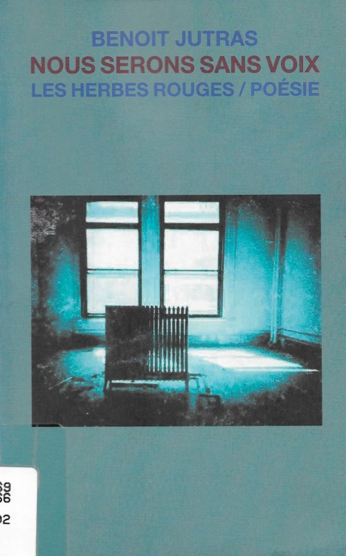 Benoît Jutras, Nous serons sans voix, 2002, couverture