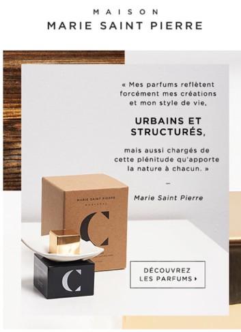 Marie Saint Pierre, publicité, 2015