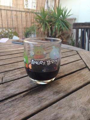 Verre Angry Birds, Barcelone, juillet 2015