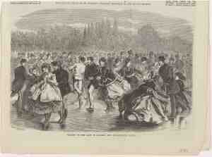 «Skating on the Lake of Suresne, Bois de Boulogne, Paris», 1869