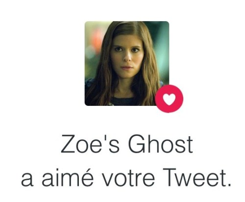 Compte Twitter du fantôme de Zoe Barnes