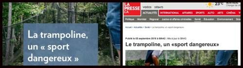 Le genre de «trampoline» selon la Presse+ et lapresse.ca
