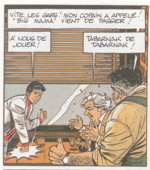 Illustration tirée de la bande dessinée les Casseurs d'André-Paul Duchateau et Christian Denayer (1988)
